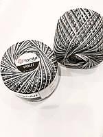 Пряжа нитки для вязания хлопковые   Виолет ЯрнартViolet YarnArt 100% меланж сірий № 509