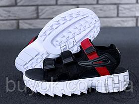 Женские сандалии Fila Disruptor 2 Sandal Summer Shoes Black White BW13HT 39