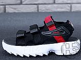 Жіночі сандалі Fila Disruptor 2 Sandal Summer Shoes Black White BW13HT 39, фото 3