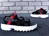 Жіночі сандалі Fila Disruptor 2 Sandal Summer Shoes Black White BW13HT 39, фото 7