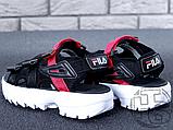 Жіночі сандалі Fila Disruptor 2 Sandal Summer Shoes Black White BW13HT 39, фото 8
