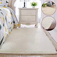 Хутровий ворсистий килимок Травичка 200*100/ приліжковий килимок з довгим ворсом, фото 1