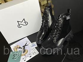 Женские ботинки MS Boots Full Black Fur 36