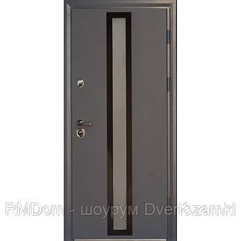 Вхідні двері Very Dveri серія Котедж модель Тауер з терморозривом та двокамерним склопакетом