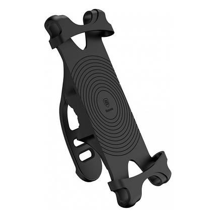 Вело-мото держатель для смартфона Baseus Miracle Bicycle Vehicle Mounts SUMIR-BY01 (Черный), фото 2