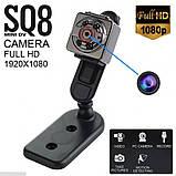 Екшн камера нічного бачення Міні відеокамера SQ8 Full HD 1080P відеореєстратор з датчиком руху, фото 5