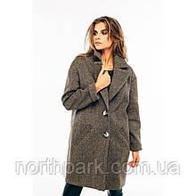 Модне жіноче демісезонне пальто Solo, коричневе
