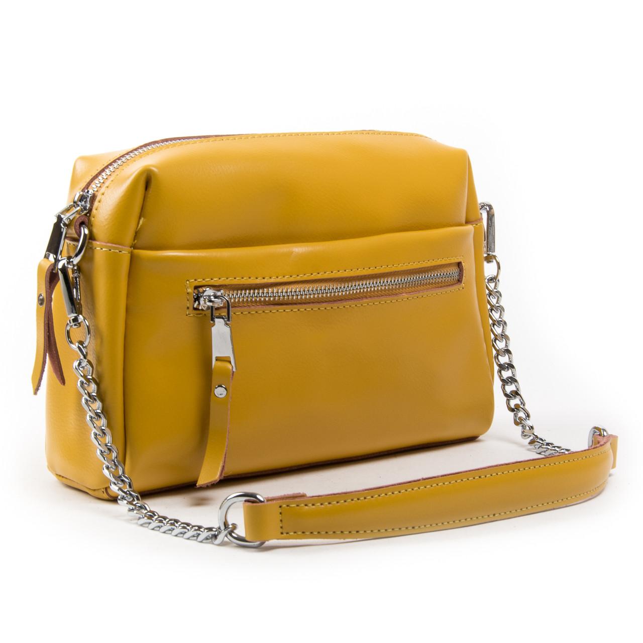 Женская сумка-кроссбоди кожа ALEX RAI 03-02 1052 Желтая