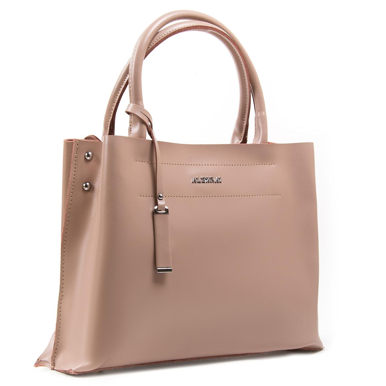Сумка Женская Классическая кожа ALEX RAI 05-01 8550-1 Розовая