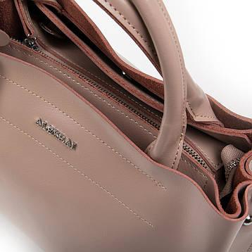Сумка Женская Классическая кожа ALEX RAI 05-01 8550-1 Розовая, фото 2