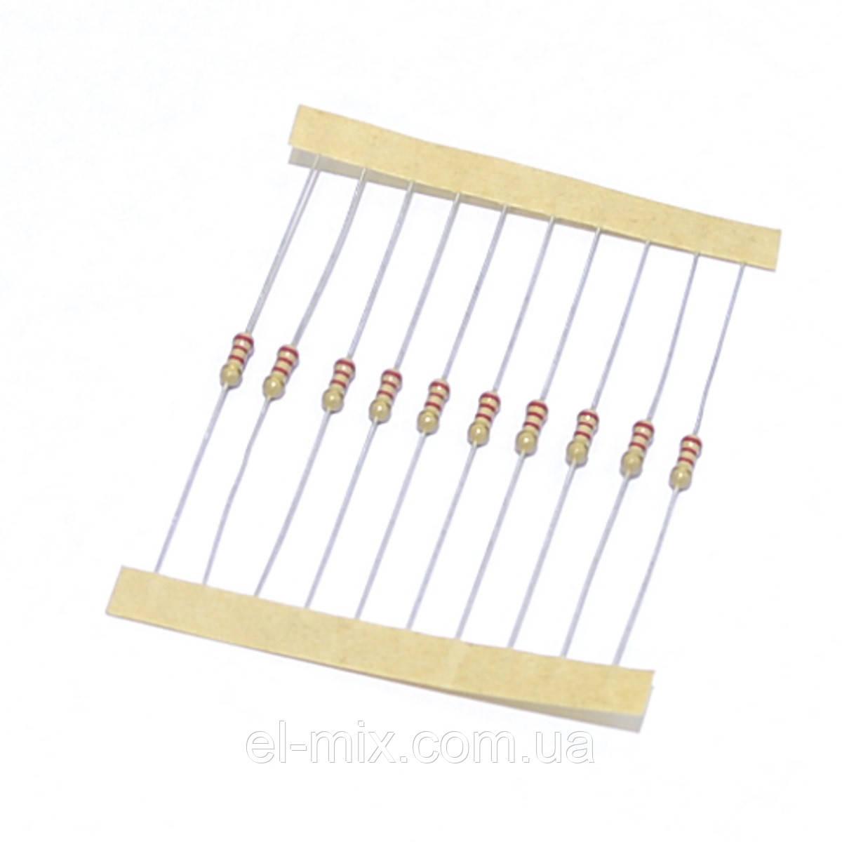 Резистор 0,25 Вт 1,1 kOm 5% (2,3х6,0мм), стрічка SR-Passives / уп.10 шт