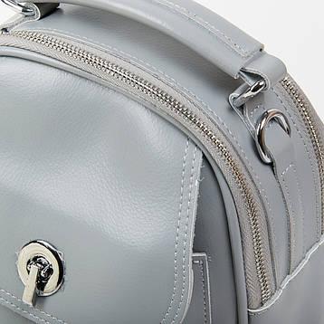 Женская кожаная сумочка-рюкзак ALEX RAI 03-02 2236 Серая, фото 2