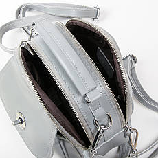 Женская кожаная сумочка-рюкзак ALEX RAI 03-02 2236 Серая, фото 3
