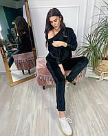Женский стильный плюшевый спортивный костюм, фото 1