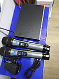 Микрофоны беспроводные пара c базой AKG профессиональные, фото 7