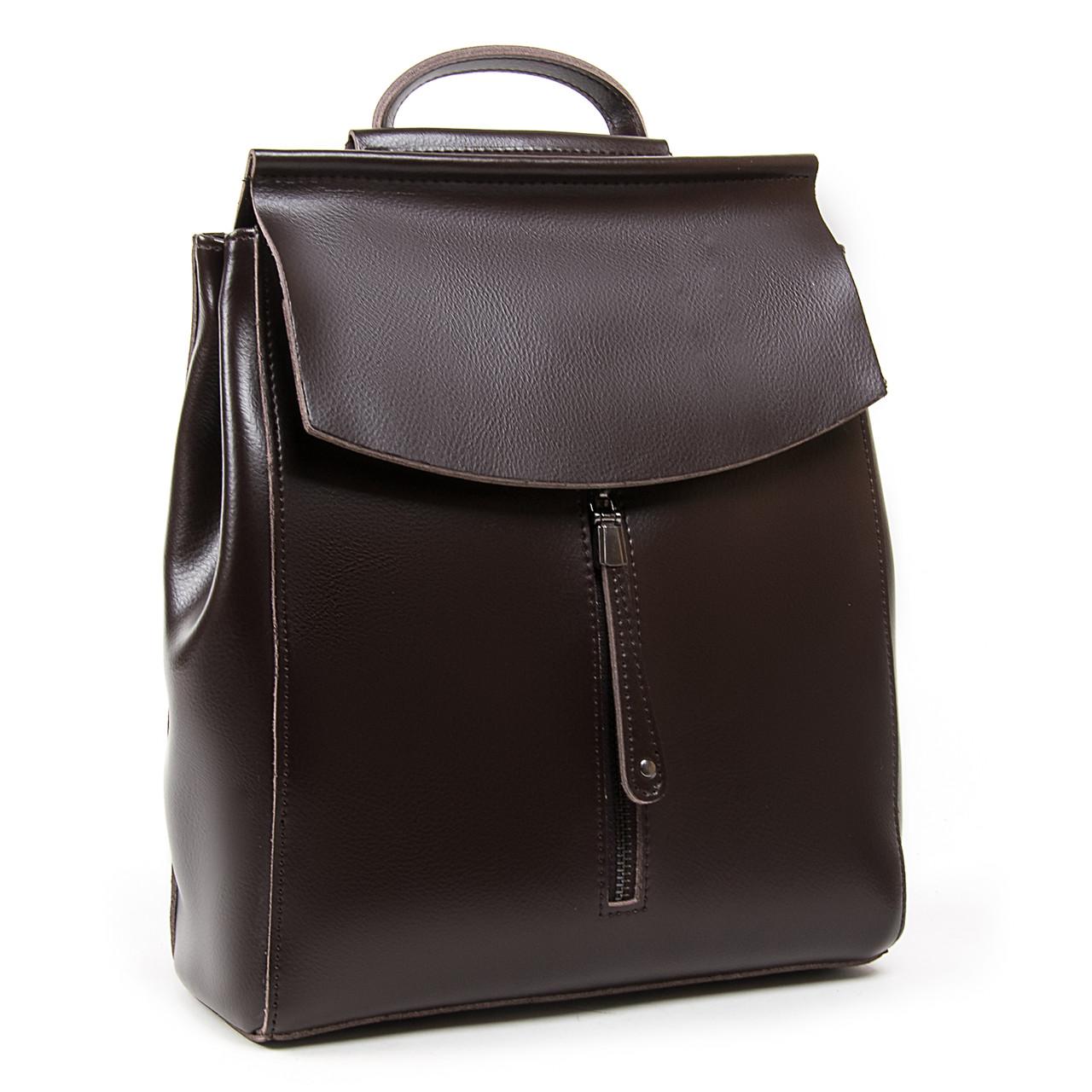 Рюкзак женский кожаный ALEX RAI 05-01 3206 brown