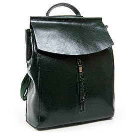 Рюкзак женский кожаный ALEX RAI 05-01 3206 зеленый