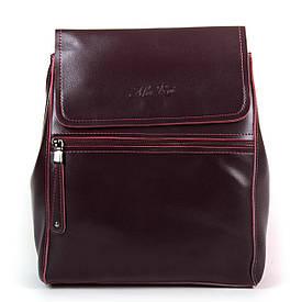 Рюкзак женский кожаный ALEX RAI 05-01 1005 бордовый