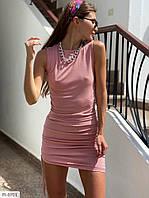 Ефектне облягаюче жіночу сукню міні з затяжками з боків без рукава р-ри 42-46 арт. 307