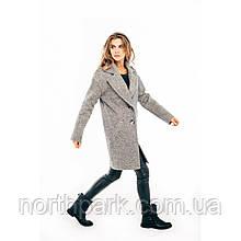 Модне жіноче демісезонне пальто Solo, сіре /сірий меланж