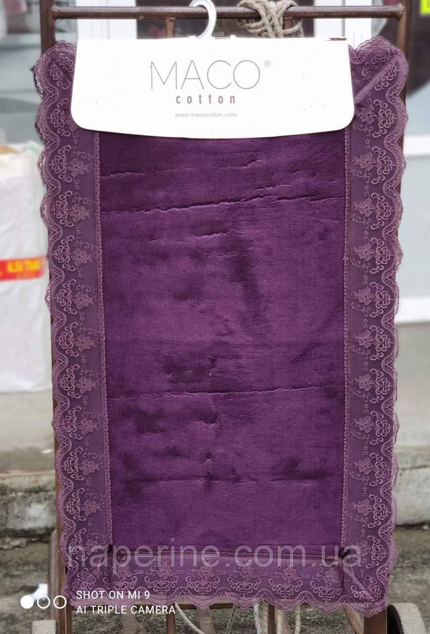 Набір килимків люкс з мереживом для ванної кімнати Maco Cotton 2 предмета Туреччина