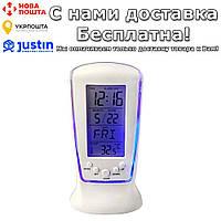 Будильник Reloj с голубой подсветкой цифровой календарь термометр