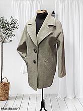 Модне жіноче демісезонне пальто Solo, бежеве