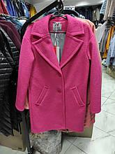 Модне жіноче демісезонне пальто Solo, фуксія