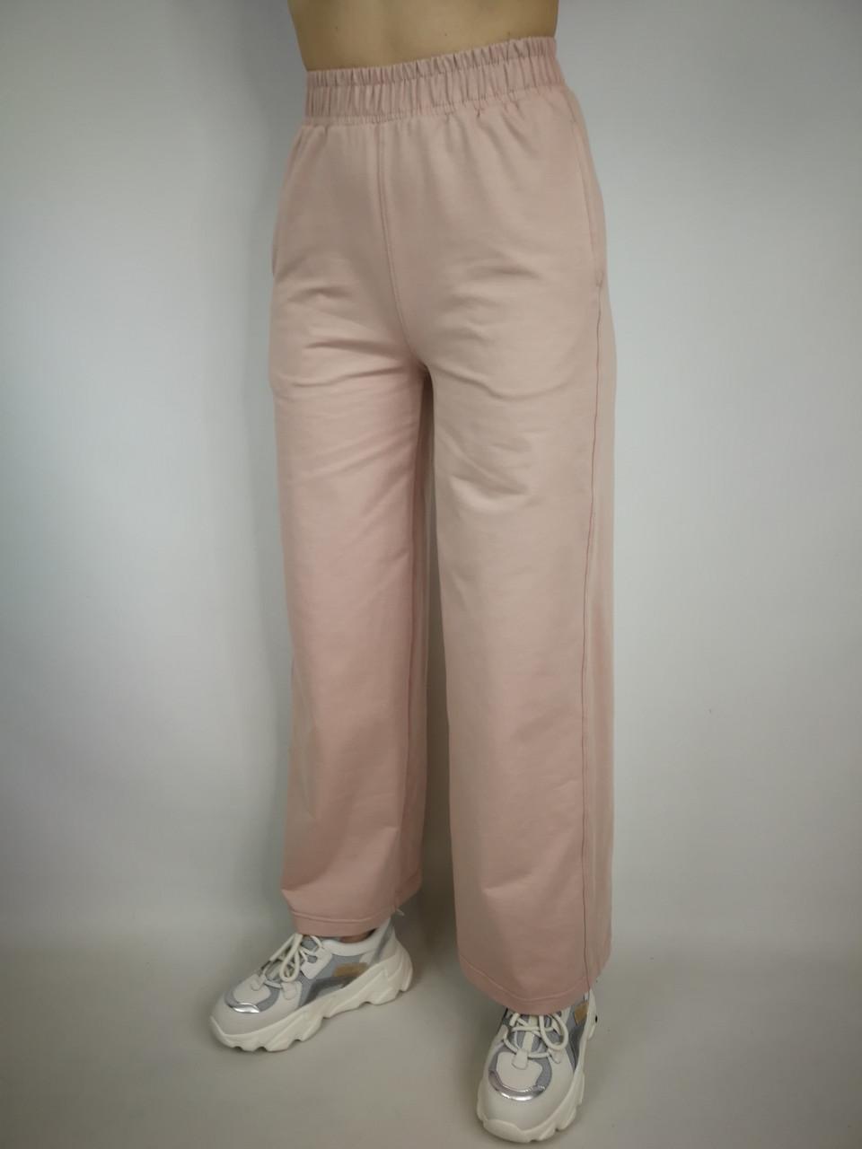 Жіночі трикотажні штани труби