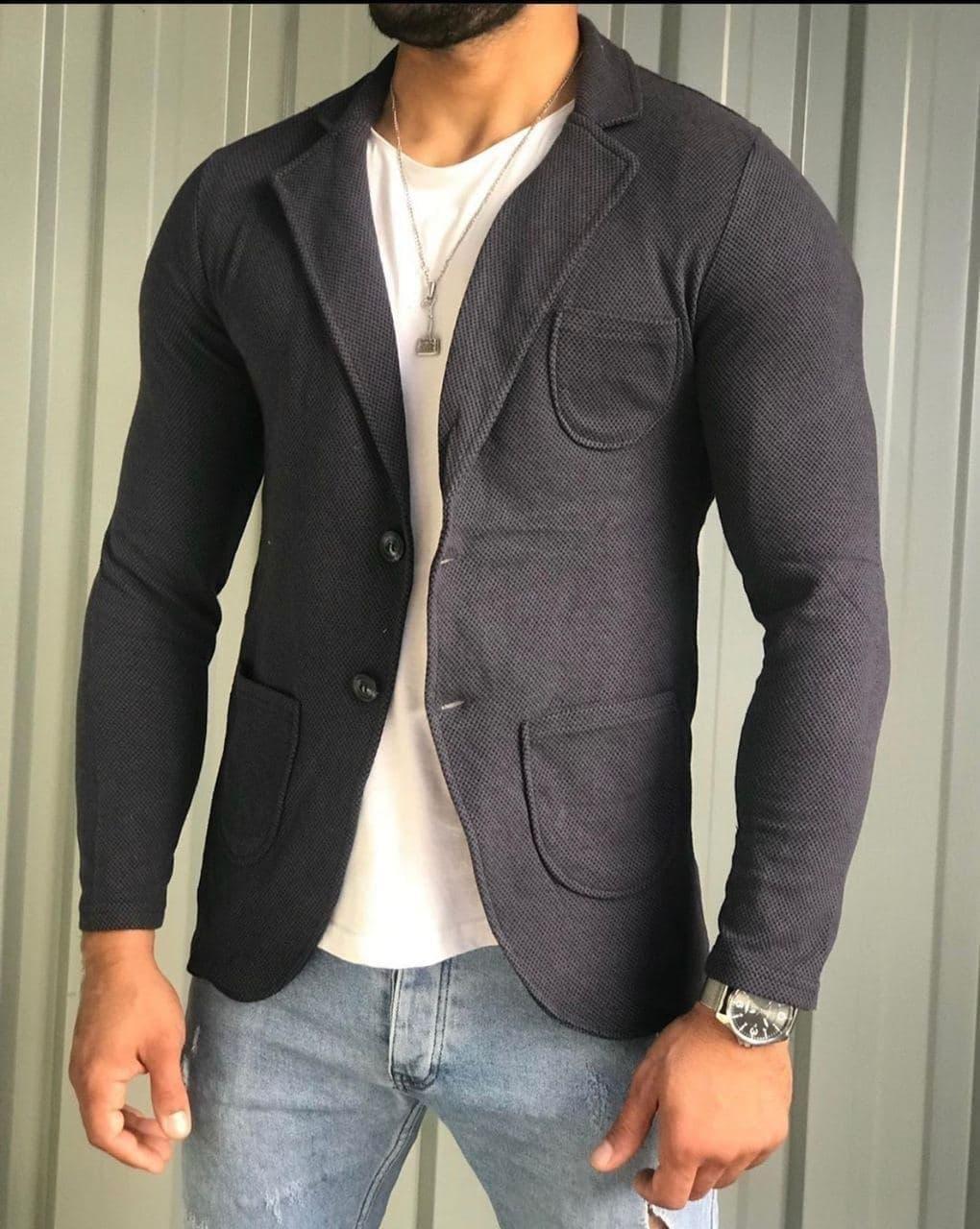 Мужской Пиджак Темно-серый