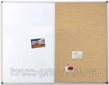 Доска комбинированная (маркерно-пробковая) TM Ukrboards, 90х120 см.