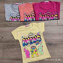 Подростковая футболка для девочки Among us р. 8-12 лет