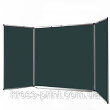 Доска для мела настенная TM Ukrboards, 120х400 см.  для мела -5 роб пов