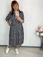 Женское свободное платье со штапеля больших размеров