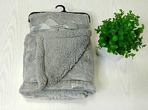 Плед в ліжечко або коляску срібло