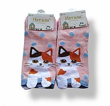 Шкарпетки жіночі короткі з принтом рожеві розмір 36-41