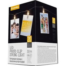 Украшение декоративное ColorWay 20 LED, 3м, гирлянда с прищепками (CW-LCP-20L30B)