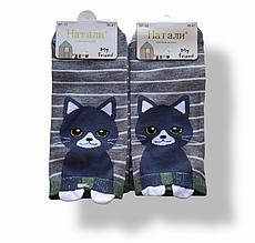 Шкарпетки жіночі з принтом сірі короткі розмір 36-41