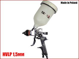Краскопульт пневматический HVLP 1,5мм Yato YT-2341