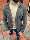 Мужской Пиджак Серый Полоска, фото 3