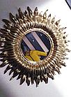 Дзеркало сонце Sunny 55 см золотий декор