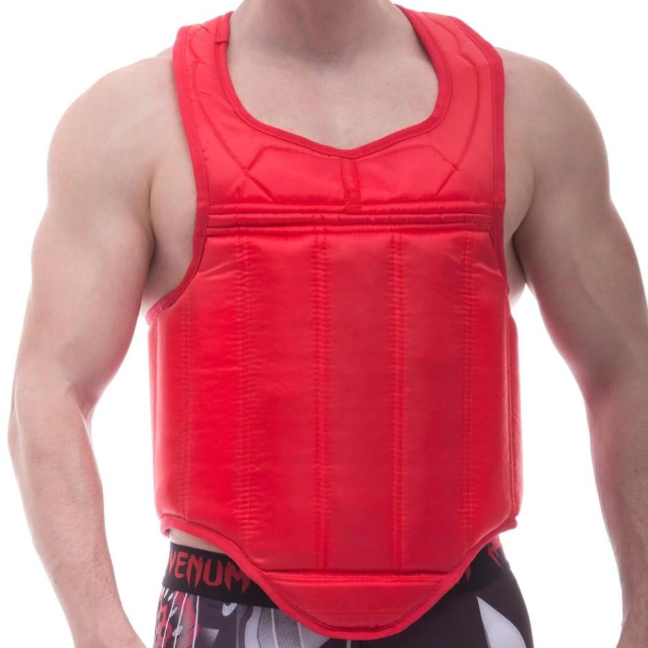 Защитный жилет для единоборств Элит ПВХ L, красный BOXER