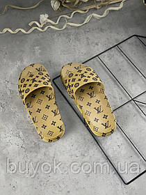 Женские шлепанцы Louis Vuitton Slide Beige ALL05767