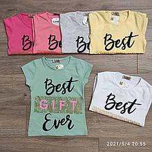 Детская футболка для девочки Best ever р.3-7 лет
