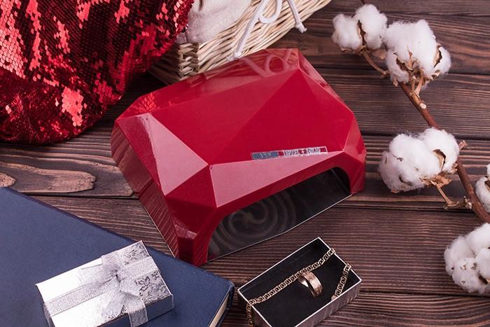 Гібридна лампа для нігтів CCF+ LED 36 Вт DIAMOND, Лампа для сушіння лаку і гелю, Манікюрна лампа сушарка