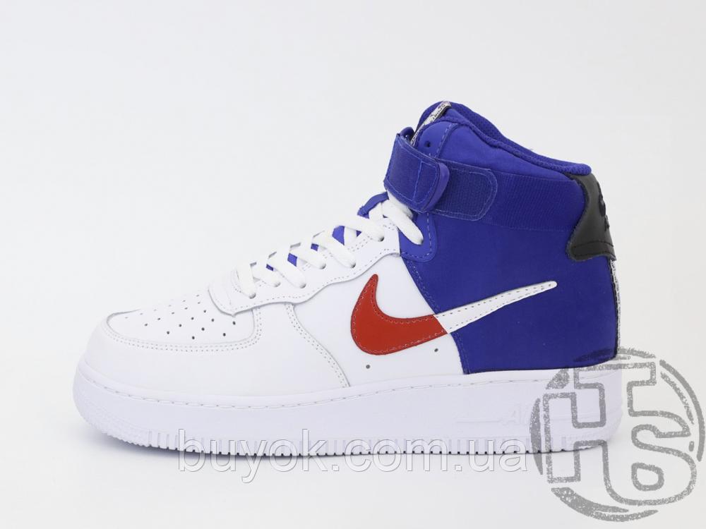 "Мужские кроссовки Nike Air Force 1 High '07 LV8 ""Clippers"" White/Blue BQ2730-101"