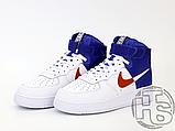 "Мужские кроссовки Nike Air Force 1 High '07 LV8 ""Clippers"" White/Blue BQ2730-101, фото 2"