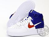 "Мужские кроссовки Nike Air Force 1 High '07 LV8 ""Clippers"" White/Blue BQ2730-101, фото 3"
