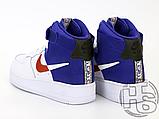 "Мужские кроссовки Nike Air Force 1 High '07 LV8 ""Clippers"" White/Blue BQ2730-101, фото 5"