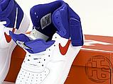 "Мужские кроссовки Nike Air Force 1 High '07 LV8 ""Clippers"" White/Blue BQ2730-101, фото 6"